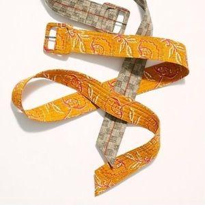 Free People Frisco Fabric Belt - NWOT